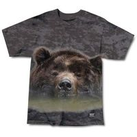 koszulka GRIZZLY - Submerged Tee Black Tie-Dye (BTDY)