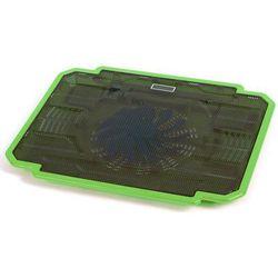 Podstawka chłodząca OMEGA do laptopa 17 cali Ice Box (41905) Zielony