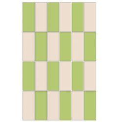 mozaika Aroma prostokąty bianco/verde 25 x 40 WD208-012