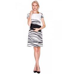 Sukienka w asymetryczne paski - De Facto