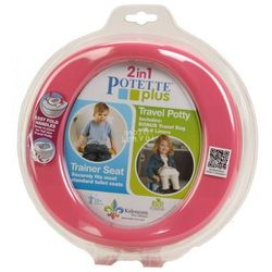 Potette Plus 2w1 nocnik turystyczny-nakładka na WC różowy
