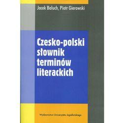 Czesko-polski słownik terminów literackich (opr. miękka)