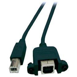 Przedłużacz USB 2.0 EFB Elektronik, [1x Złącze męskie USB 2.0 B - 1x Złącze żeńskie USB 2.0 B], 0.50 m, Czarny