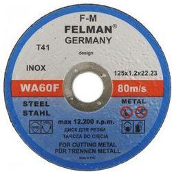 Tarcza do cięcia metalu 125x1,2 FELMAN