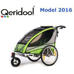 Przyczepka rowerowa Qeridoo Sportex1 zielona