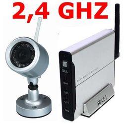 Kamera bezprzewodowa 2,4 GHz, 380 linii, 0 lux, DZIEŃ/NOC, 13 diod IR o zasięgu do 10 m, hermetyczna, 812T