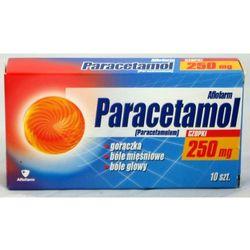 Paracetamol Aflofarm czop.doodbyt. 0,25 g 10 czop. (2 blist.po 5 szt.)
