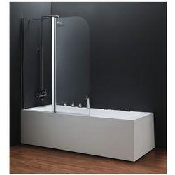 OMNIRES Parawan nawannowy, lewy, szkło transparentne 115x140cm QP95B-L TR
