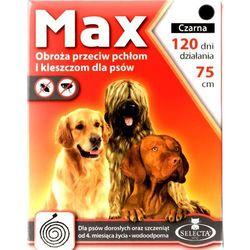 Selecta HTC Max Obroża dla psa przeciw pchłom i kleszczom czarna 75cm