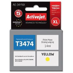 Tusz Activejet AE-34YNX (do drukarki Epson, zamiennik T3474 supreme 14ml yellow)