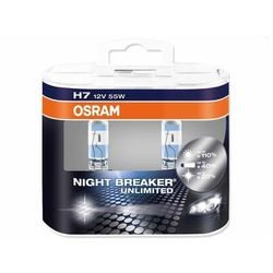 Żarówka OSRAM - H7 55W Px26d 12V Halogen Night Breaker Unlimited - 2 sztuki