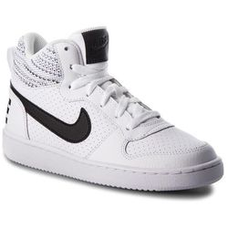 Buty NIKE Court Borough Mid Se (GS) 918340 100 WhiteAnthraciteCool Grey