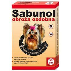 Bezzapachowa obroża przeciw pchłom i kleszczom marki Sabunol