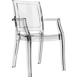 Designerskie krzesło z poliwęglanu do restauracji Arthur Siesta przeźroczyste