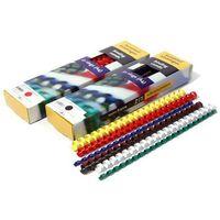Grzbiety do bindowania plastikowe, czerwone, 32 mm, 50 sztuk, oprawa do 300 kartek