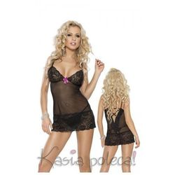 Roxana Mini Dress & String Model: 6561 Black M Sukienka i stringi czarne M