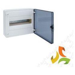 Rozdzielnica,rozdzielnia elektryczna 12 modułów natynkowa tworzywo, drzwi transparentne HAGER VS112TD