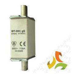 Wkładka topikowa zwłoczna gg WT-00C 80A, bezpiecznik przemysłowy ETI
