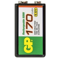 Akumulator NiMH, 9V GP Batteries 6LR61, 9,6V, 170 mAh