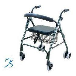 Chodzik aluminiowy, czterokołowy z koszykiem - CA871G