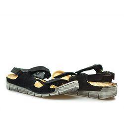 Sandały Carini B2852 Czarne zamsz