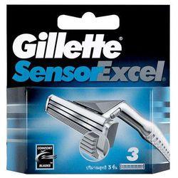 Gillette Sensor Excel 3szt M Wkład do maszynki do golenia