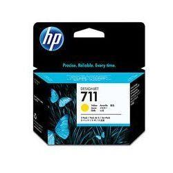 Orygina Zestaw trzech tuszy HP 711 do Designjet T120/520 | 3 x 29ml | yellow