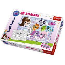 TREFL 30 EL. Maxi Kontur Pet Shop Przygody Milusińskich Zwierzątek