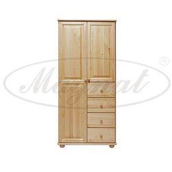 Szafa drewniana 2D nr3 wieszak/półki S80
