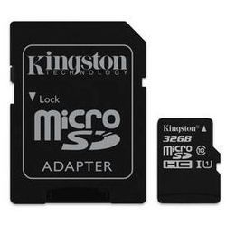 Karta pamięci Kingston MicroSDHC 32GB UHS-I U1 (45MB/s) + adapter (SDC10G2/32GB)