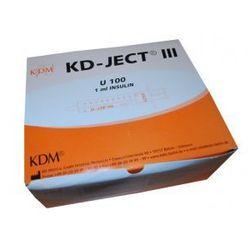 Strzykawki insulinowe KD Medical U100 1ml z igłą a'100szt