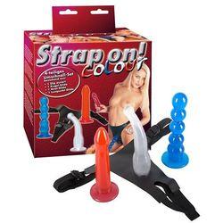 Zestaw trzech żelowych penisów Strap-On Colour 522740