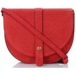 12a8c1d9c881b Włoskie Torebki Skórzane Listonoszki marki Vittoria Gotti wykonane w  całości z wysokiej jakości Zamszu Naturalnego Czerwone