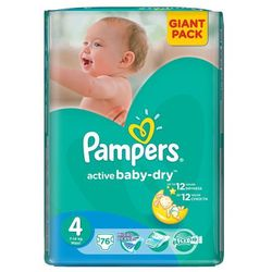 Pampers Active Baby-Dry roz. 4 Maxi 76 szt.