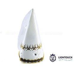 Czapeczka królewny - Biała ze złotymi dodatkami