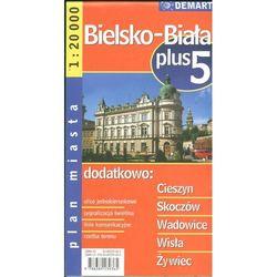 Bielsko-Biała plus 5. Plan miasta 1: 20 000 Demart - Dostawa zamówienia do jednej ze 170 księgarni Matras za DARMO