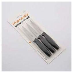 Noże do warzyw i owoców Fiskars Functional Form, zestaw 3 szt. czarny