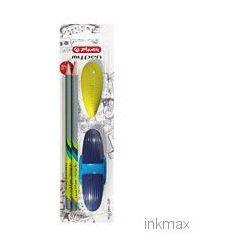 Zestaw Szkolny temperówka + ołówek + gumka granatowy