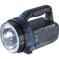 Latarka akumulatorowa IVT, 10 W , (nieprzyciemnione / 50% przyciemnione) 2.5 h / 5 h, Oświetlenie halogenowe PL-838B, Zasięg światła=1000 m