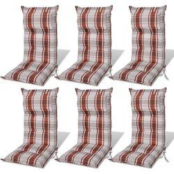 vidaXL Poduszki na krzes?a ogrodowe, fotele br?z (8 cm) Darmowa wysy?ka i zwroty