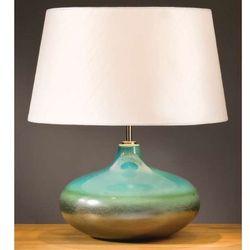 Stojąca LAMPA stołowa LUI/LAGUNA SMALL+LUI/LS1126 Elstead ceramiczna LAMPKA abażurowa niebieski srebrny ecru