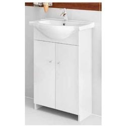 DEFTRANS VENUS Zestaw łazienkowy szafka 2D0S D50 bez cokołu + umywalka, biały 108-D-05006+1120