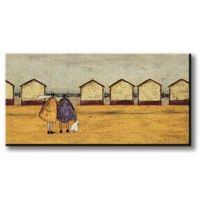 Sam toft looking through the gap in the beach huts - obraz na płótnie