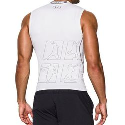 Koszulka termoaktywna Under Armour HeatGear Compression Sleeveless 1257469-100