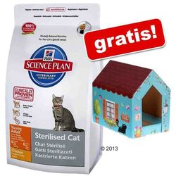 8 kg Hills Feline + Domek dla kota Butterfly z matą do drapania gratis! - Young Adult Sterilised Cat, kurczak, 8 kg