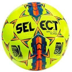 Piłka nożna SELECT Brillant Super z atestem FIFA żółto-pomarańczowa