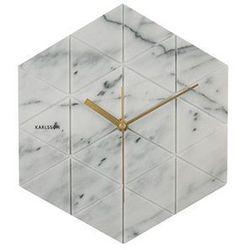 Zegar ścienny Marble Hexagon white by Karlsson