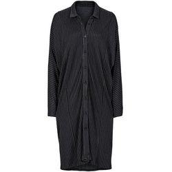 Sukienka płaszczowa bonprix czarno-biały w paski