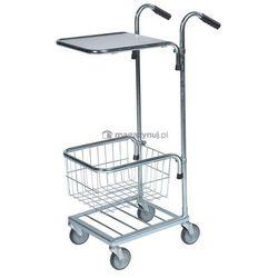 Mały wózek sklepowy, marketowy. Wym: 660x385x1090mm, 1 koszyk