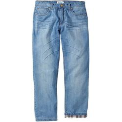 Dżinsy ocieplane Regular Fit Straight bonprix niebieski
